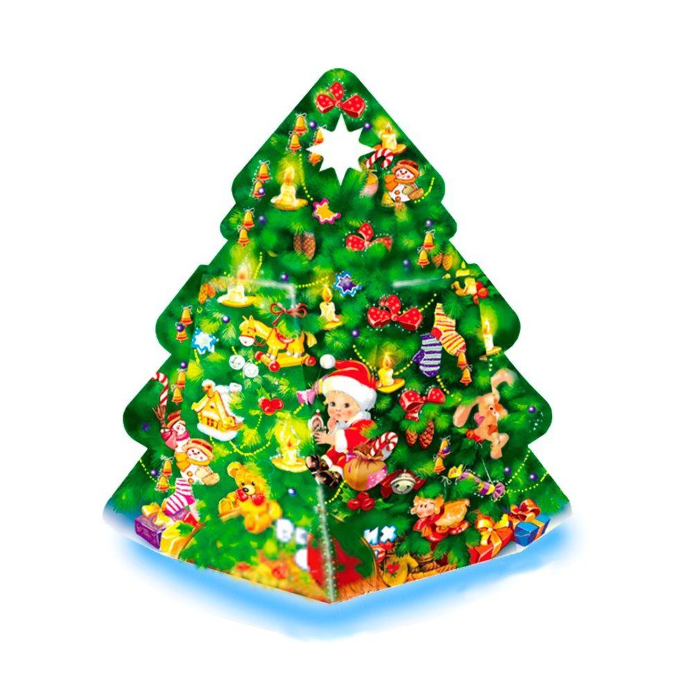 Cладкий подаро в новогодней упаковке Ёлка